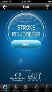 Stroke riskometer